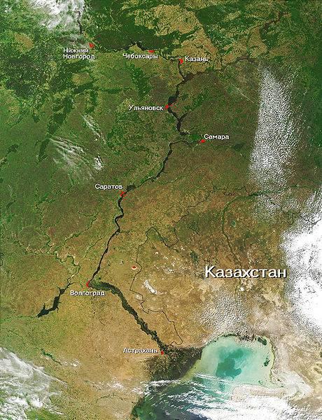 вид нижнего новгорода со спутника: