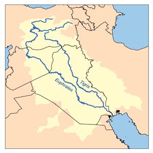 Река евфрат на карте