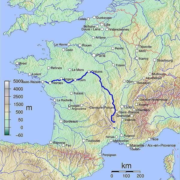 Река луара на карте франции